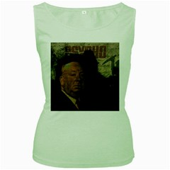Alfred Hitchcock - Psycho  Women s Green Tank Top