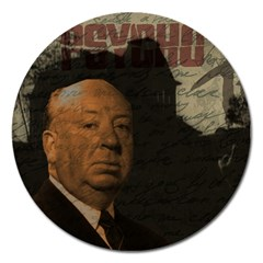Alfred Hitchcock - Psycho  Magnet 5  (Round)