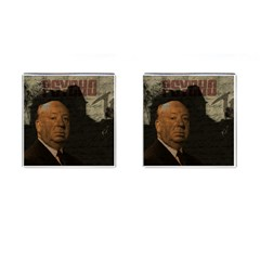 Alfred Hitchcock - Psycho  Cufflinks (Square)