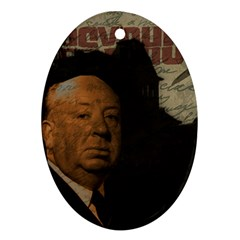 Alfred Hitchcock - Psycho  Oval Ornament (Two Sides)