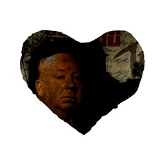 Alfred Hitchcock - Psycho  Standard 16  Premium Flano Heart Shape Cushions
