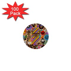 Background Images Colorful Bright 1  Mini Buttons (100 Pack)
