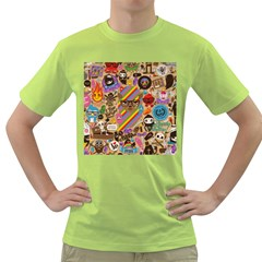 Background Images Colorful Bright Green T Shirt