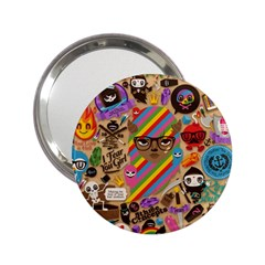 Background Images Colorful Bright 2 25  Handbag Mirrors