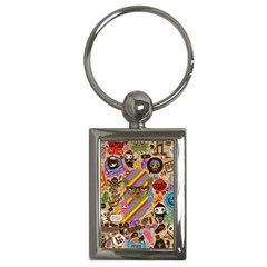 Background Images Colorful Bright Key Chains (rectangle)
