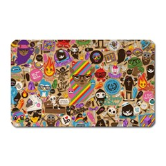 Background Images Colorful Bright Magnet (rectangular)