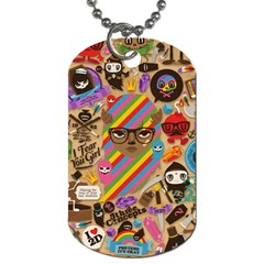 Background Images Colorful Bright Dog Tag (One Side)