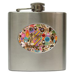 Background Images Colorful Bright Hip Flask (6 Oz)