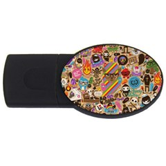 Background Images Colorful Bright USB Flash Drive Oval (2 GB)