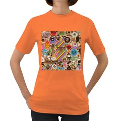 Background Images Colorful Bright Women s Dark T Shirt