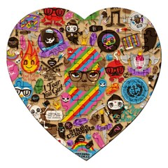 Background Images Colorful Bright Jigsaw Puzzle (Heart)