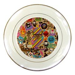 Background Images Colorful Bright Porcelain Plates