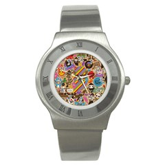 Background Images Colorful Bright Stainless Steel Watch