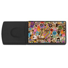 Background Images Colorful Bright USB Flash Drive Rectangular (4 GB)