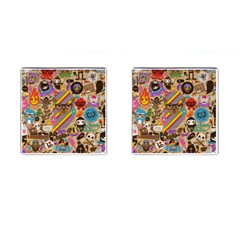 Background Images Colorful Bright Cufflinks (square)