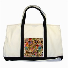 Background Images Colorful Bright Two Tone Tote Bag
