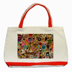 Background Images Colorful Bright Classic Tote Bag (red)