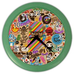 Background Images Colorful Bright Color Wall Clocks