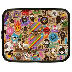 Background Images Colorful Bright Netbook Case (Large)