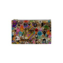 Background Images Colorful Bright Cosmetic Bag (Small)