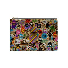 Background Images Colorful Bright Cosmetic Bag (Medium)