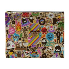 Background Images Colorful Bright Cosmetic Bag (XL)