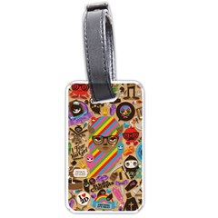 Background Images Colorful Bright Luggage Tags (One Side)