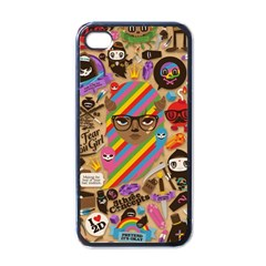 Background Images Colorful Bright Apple iPhone 4 Case (Black)