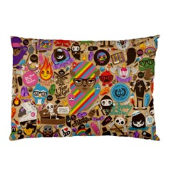 Background Images Colorful Bright Pillow Case (Two Sides)