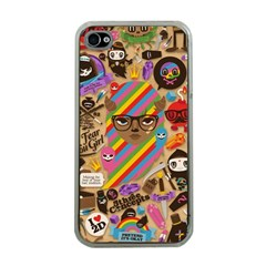 Background Images Colorful Bright Apple iPhone 4 Case (Clear)