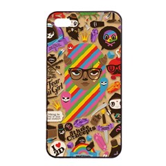 Background Images Colorful Bright Apple iPhone 4/4s Seamless Case (Black)
