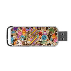 Background Images Colorful Bright Portable USB Flash (Two Sides)