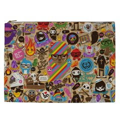Background Images Colorful Bright Cosmetic Bag (XXL)