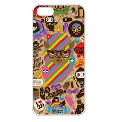 Background Images Colorful Bright Apple iPhone 5 Seamless Case (White)