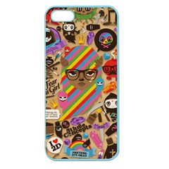 Background Images Colorful Bright Apple Seamless iPhone 5 Case (Color)