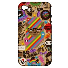 Background Images Colorful Bright Apple Iphone 4/4s Hardshell Case (pc+silicone)