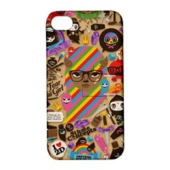 Background Images Colorful Bright Apple Iphone 4/4s Hardshell Case With Stand