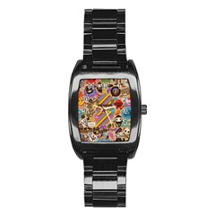 Background Images Colorful Bright Stainless Steel Barrel Watch