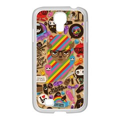 Background Images Colorful Bright Samsung Galaxy S4 I9500/ I9505 Case (white)
