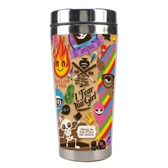 Background Images Colorful Bright Stainless Steel Travel Tumblers