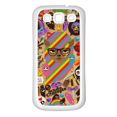 Background Images Colorful Bright Samsung Galaxy S3 Back Case (White)