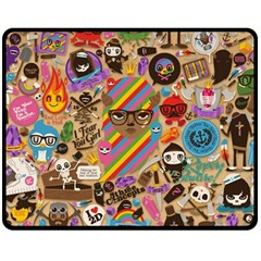 Background Images Colorful Bright Double Sided Fleece Blanket (Medium)