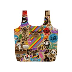 Background Images Colorful Bright Full Print Recycle Bags (S)