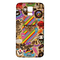 Background Images Colorful Bright Samsung Galaxy S5 Back Case (White)