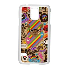 Background Images Colorful Bright Samsung Galaxy S5 Case (White)
