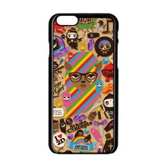Background Images Colorful Bright Apple iPhone 6/6S Black Enamel Case