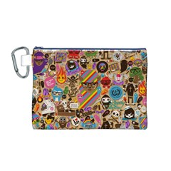Background Images Colorful Bright Canvas Cosmetic Bag (M)