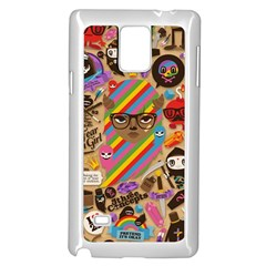 Background Images Colorful Bright Samsung Galaxy Note 4 Case (white)