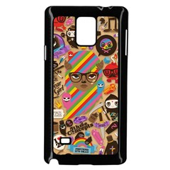 Background Images Colorful Bright Samsung Galaxy Note 4 Case (Black)