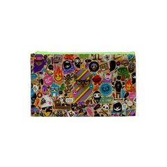 Background Images Colorful Bright Cosmetic Bag (XS)